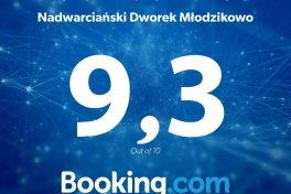 Wysokie oceny na portalu rezerwacyjnym Booking.com