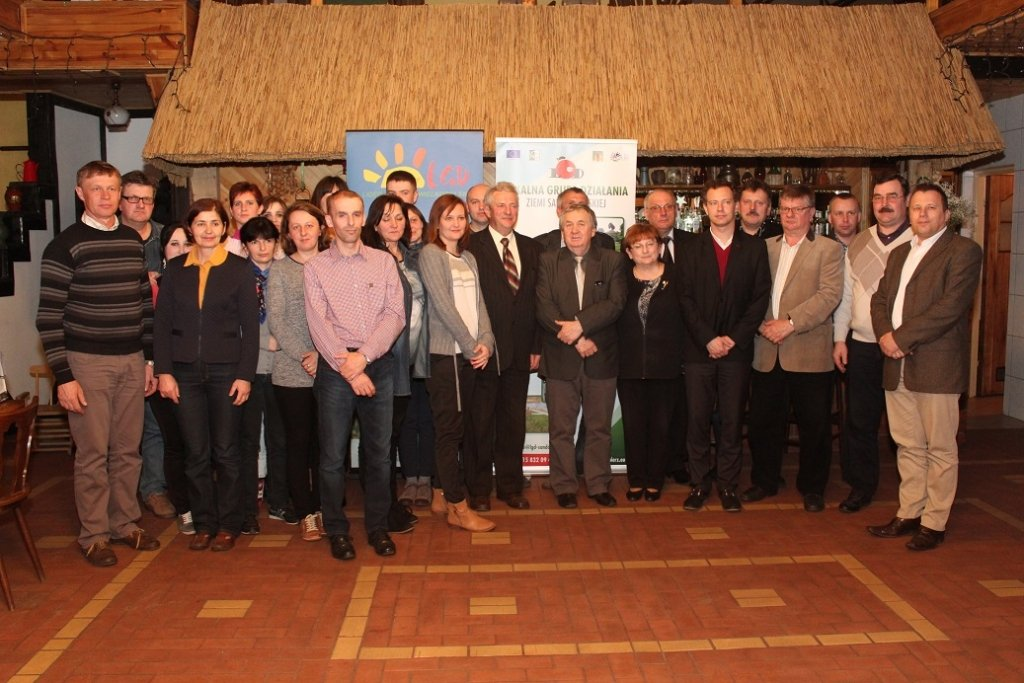 Goście  z Sandomierza w ramach rewizyty Lokalnej Grupy Działania .